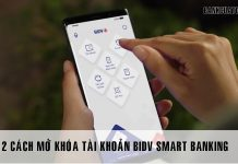 Cach mo tai khoan bidv smart banking bi khoa