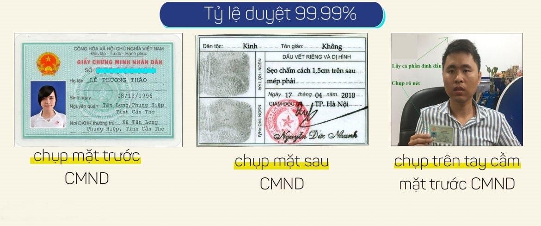 Vay tiền online bằng cmnd