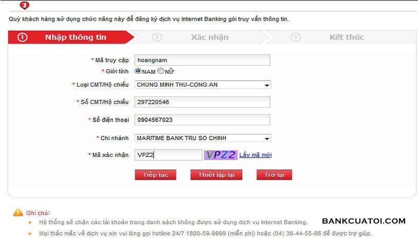 Dang ky internet banking msb