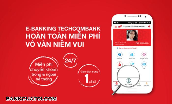 Phi chuyen tien lien ngan hang techcombank