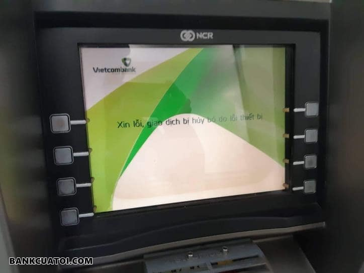 Xin lỗi giao dịch không hoàn thành Vietcombank