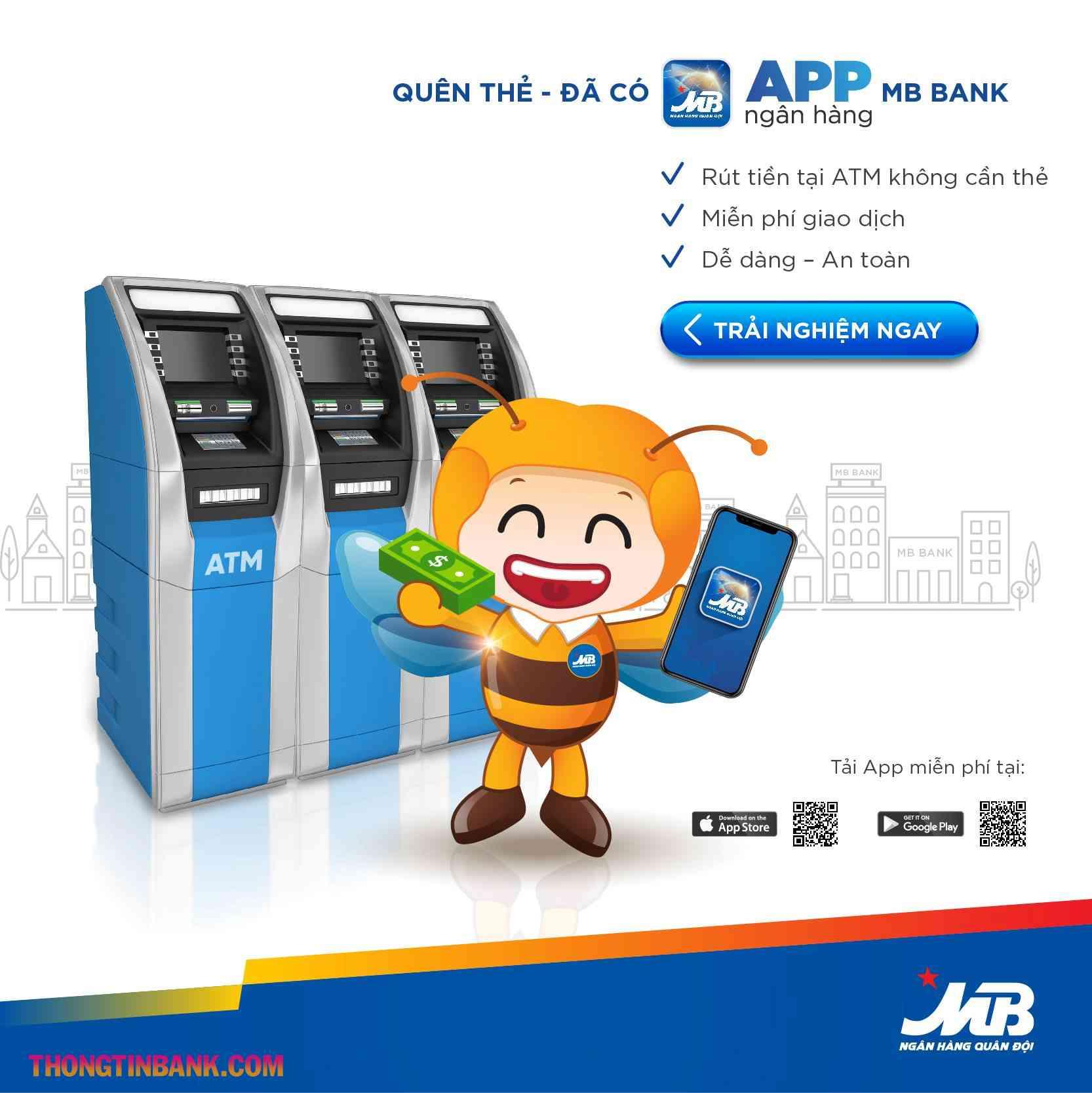 Cách rút tiền qua app mb