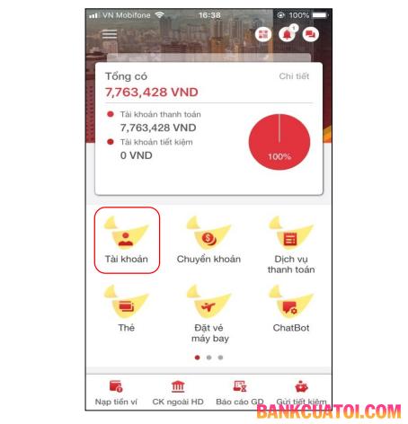Tra cứu tài khoản HDBank trên Mobile Banking